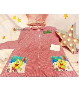 Baby escolar rojo cuadritos