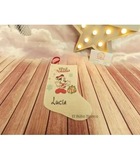 Calcetín Natal decoración personalizado